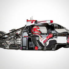 The monocoque in the R18 is made from a single section of carbon fiber