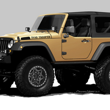 The Wrangler Sand Trooper has a Hemi V8, 5-inch lift and 42-inch tires