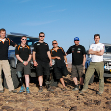 The team competed in the Pharons rally and trained in Morocco this month