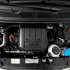 The engine is a modified version of the 1.0-liter in the Mii