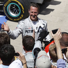 Schumacher had a great performance in Valencia taking 3rd place