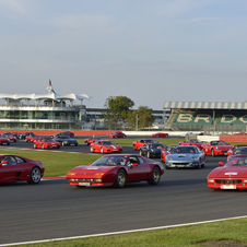 There was also an opportunity for spectators to see the entire range of Ferrari.