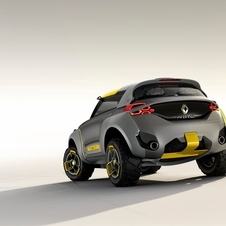 The Kwid Concpet is prepared to receive eletric driving technology, including a charging plug behind the Renault logo