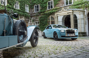 Newer Rolls-Royce cars also joined the rally