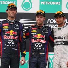 Red Bull took the top two tiers of the podium amid controversy