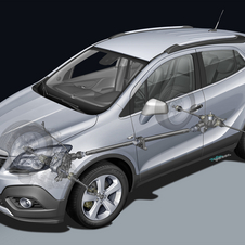 The Mokka's all-wheel drive system sends 100% of the power to the front unless it is needed in the rear.