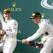 Hamilton beat his team-mate in Albert Park