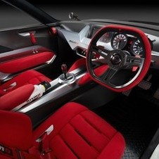 The Nismo's interior gets a tachometer and speedometer and Alcantara