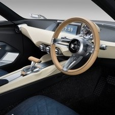 The standard car's interior is actually kept quite simple with denim seats