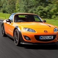 It gets a significant boost in horsepower over the standard MX-5