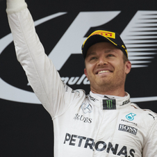 Rosberg has won all three races since the start of the season