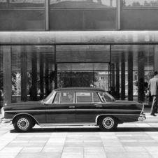 The fintail and chrome design of the early 60s might be the S-Class' aesthetic peak
