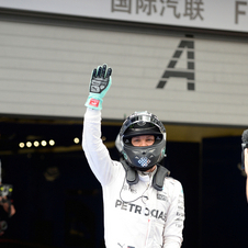 The Mercedes driver now has a 36 point lead in the championship standings over his team-mate Lewis Hamilton