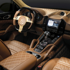 The interior uses all quilted leather