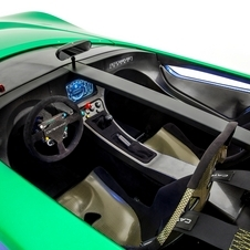 The interior is all carbon fiber with an LCD display for the instruments
