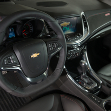 The interior comes standard with features like navigation, a head-up display and heated and ventilated seats