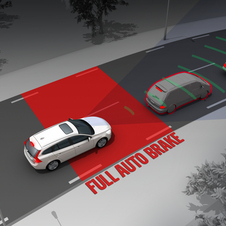 Colission detection with automatic braking was also found to help safety.