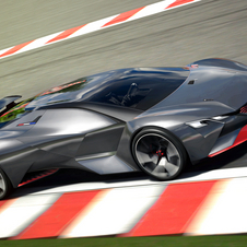 The Vision Gran Turismo is only 104cm tall and there is an almost total absence of aerodynamic efficiency elements