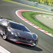Peugeot Vision Gran Turismo was designed with a power-to-weight ratio of 1:1 with 875kg to 875hp
