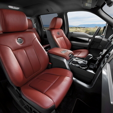 It gets heated and cooled power front seats with memory and heated rear seats.