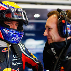 Red Bull Team Boss Christian Horner with Mark Webber in Australia