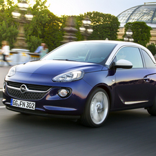 The Adam is Opel's attempt to enter the high style compact market like the DS3, Mini and Fiat 500.