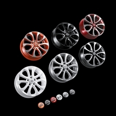In addition to wheels there are different trim colors as well