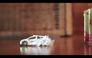 Like last year, the video is created in stop motion using toy cars