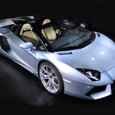 The Aventador Roadster is just being sold to buyers in the Middle East