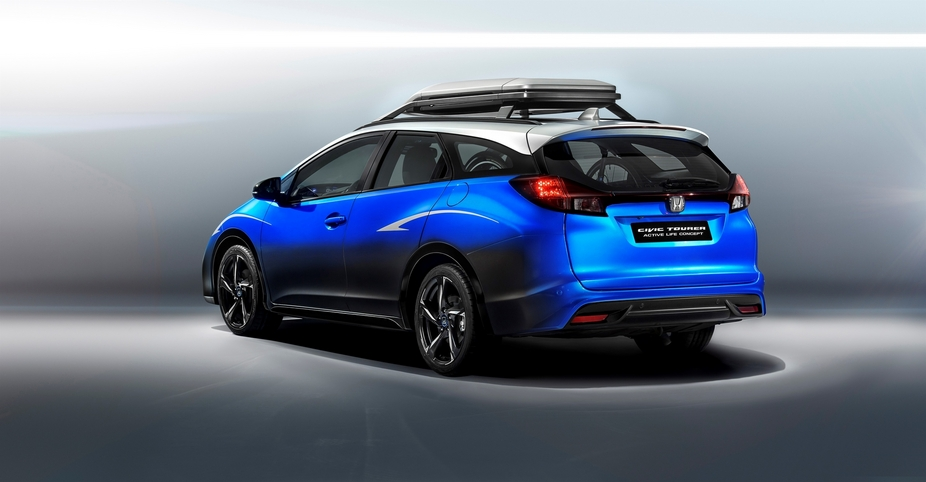 Honda Civic Tourer Active is a vehicle with equipment designed for cycling lovers
