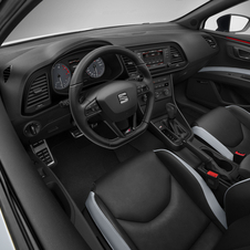 The interior is available with either Alcantara or leather seats