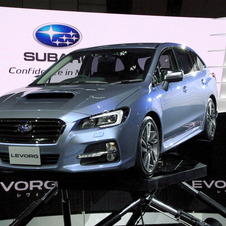 The car shows the shape of Subaru's future wagons