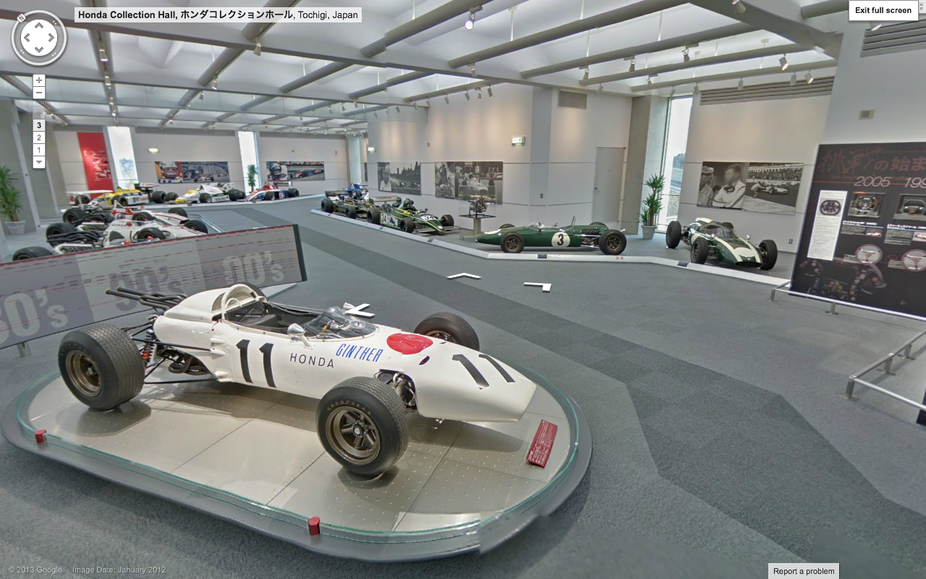It also includes nearly all of Honda's important race cars