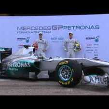 Mercedes launch the W02 in Valencia