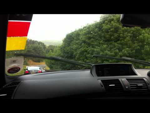 BMW 1M Coupe wet lap Millbrook hill route - SMMT Test Day 2011