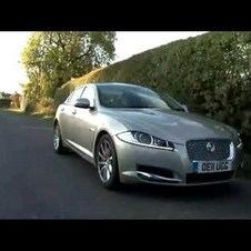 Jaguar XF 2.2D Road Test - Fifth Gear Web TV