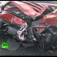Ferrari Graveyard: Video of 14 luxury sport cars pile-up in Japan
