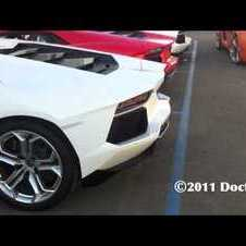 Aventador Start & Rev with Tachometer View