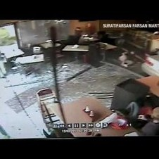 !!CAR SMASHES INTO RESTAURANT!!