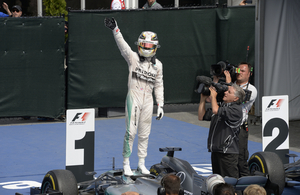 The Brit has a 17 point lead in Driver's championship standings over his teammate Nico Rosberg