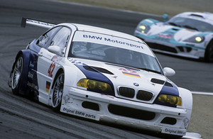 The E46 M3 GTR used a 450hp V8 and competed in ALMS for two years before being legislated out of the series