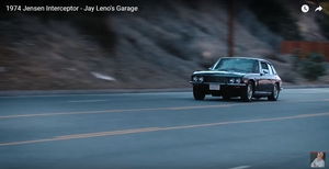 Jay Leno drives the British flaired Jensen Interceptor