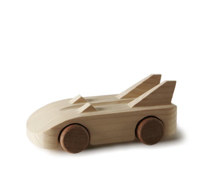 The Bat Car Wood Toy