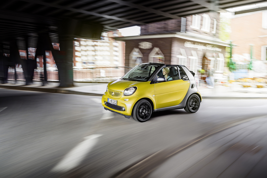 In a true three in one, the new fortwo cabrio can be driven in three different modes