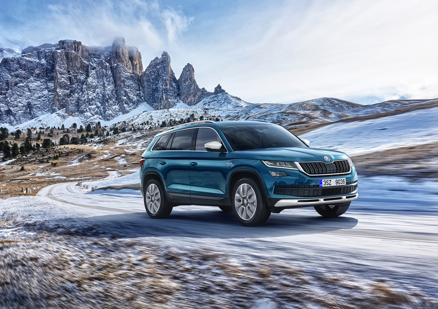 The new Skoda Kodiaq Scout will be launched at the Geneva Motor Show in March