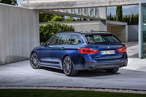 The new BMW 5 Series Touring is 36mm longer, 8mm wider and 10mm taller than the previous model
