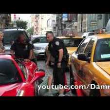 Ferrari 458 Spider Runs Over Cop